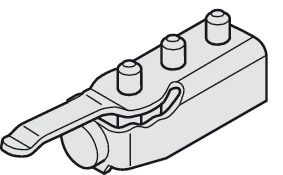 Track Stopper, with adjustable retention spring
