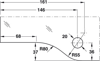 Transom Door Patch Fitting, Ⓓ