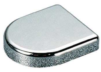 Trim Cap, Salice, D-Shaped, for 94° Opening Angle Glass Door Hinges