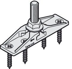 Two-way Suspension Plate, MM10 Bolt and Mounting Screws