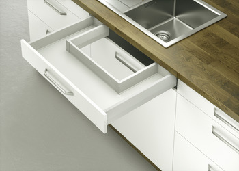 Under Sink Pull Out , Moovit, Drawer Side Height 92 Mm