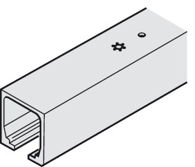 Upper Track, pre-drilled, door weight up to 40 kg