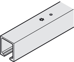 Upper Track, pre-drilled, door weight up to 80 kg