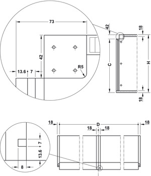 Vertical Sliding Door Hardware, Mover System