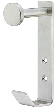 Wardrobe Hook, Stainless steel, with 2 hooks