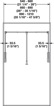 Wardrobe Lift, 33 lbs. Weight Capacity