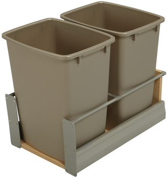 Waste Bin Pull-Out, Häfele Matrix, Double