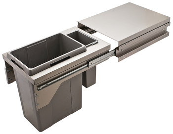 Waste Bin Pull-Out, Hailo US Cargo 18 with Soft Close