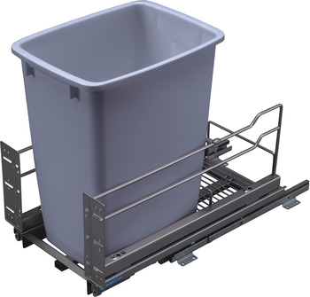 Waste Bin Pull-Out, Kesseböhmer Single Bottom Mount
