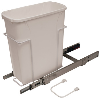 Waste Bin Pull-Out, KV Bottom Mount, Single, Ball Bearing Slide with Overtravel and Soft-Close