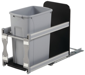 Waste Bin Pull-Out, KV Bottom Mount, Single, Undermount Slide with Soft-Close
