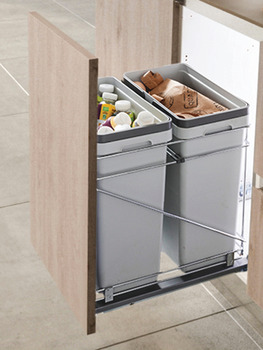 Waste Bin Pull-Out, Salice, Double