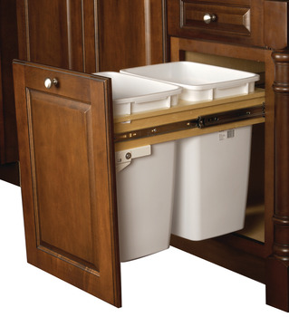 Waste Bin Pull-Out, Wood Frame, Side Mount, Single