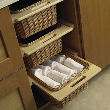Wicker Basket, with Frame Handles