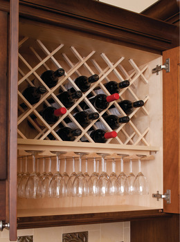 Wine Lattice, Wooden Cabinet Accessory