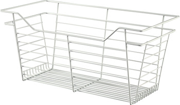 Wire Closet Basket, with Full Extension Slides