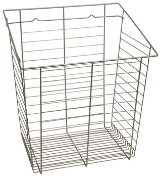 Wire Laundry Hamper, Slanted Hook-On