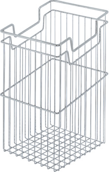 Wire Laundry Hamper, with Tilt-Out and Push-Open Options