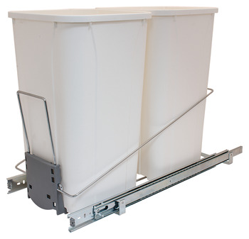 Wire Waste System, Bottom Mount Frame with Double Waste Bins