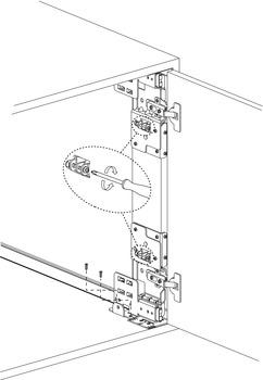"Accuride Pro Pocket Slide Cb1321-20 Pivot Sliding /& Flipping Doors Black 20/"""