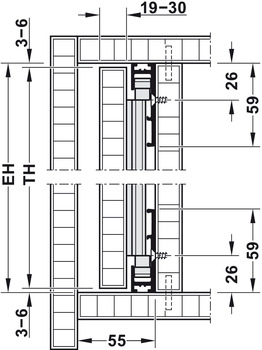 <em>Parking pocket for 1 door</em>