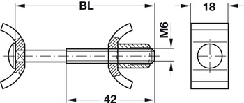 Worktop Connector, Recessed