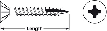 Zip-R Screw, Flat Countersunk Head, #2 Phillips, with Nibs