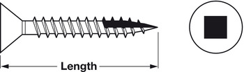 Zip-R Screw, Flat Countersunk Head, #2 Square Drive