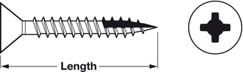 Zip-R Screw, Phillips Drive, without Nibs