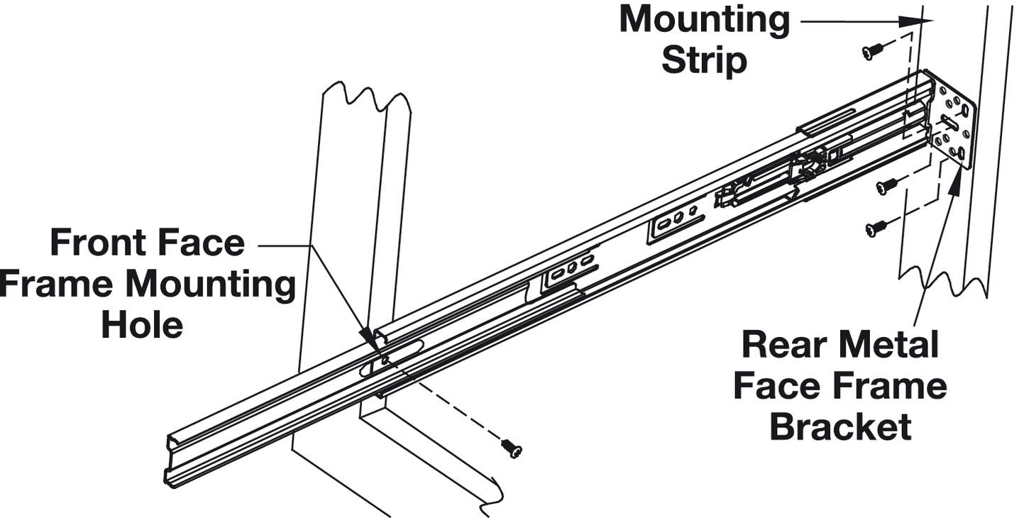 Accuride 3832ec Easy Close Telescopic Side Mounted Cam