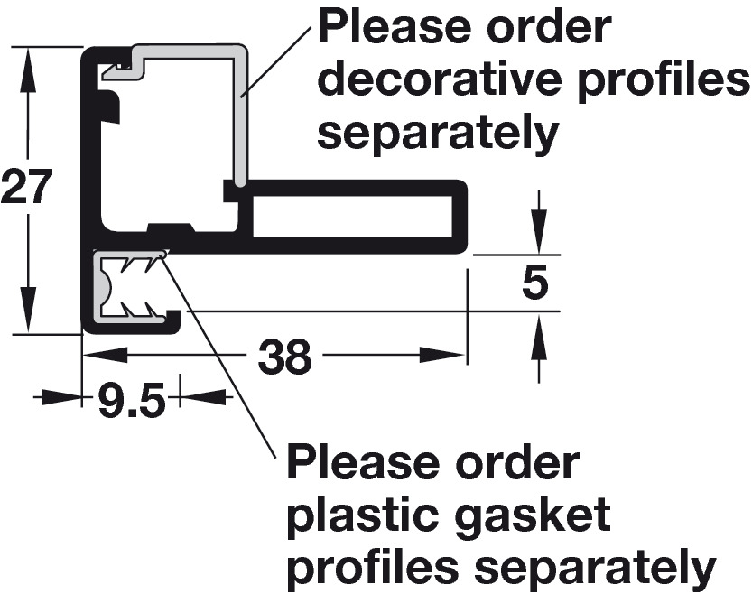 Aluminum Door Frame Profile, Cut-To-Size - in the Häfele America Shop