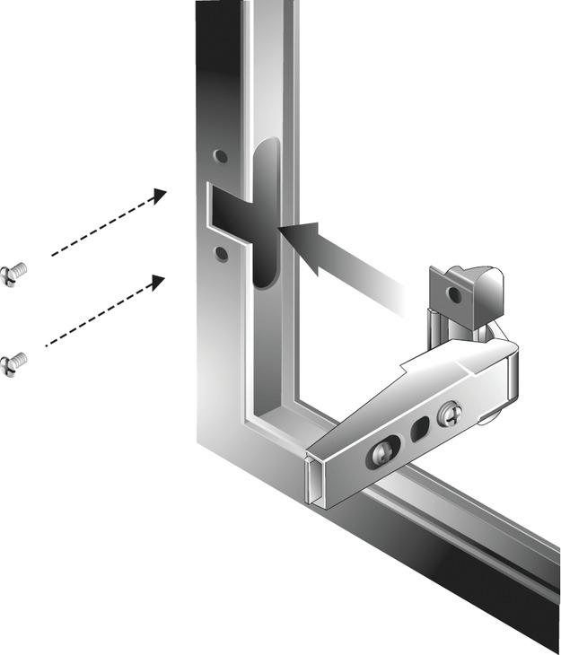Aluminum Frame Door Hinge Salice 105 176 Opening Angle