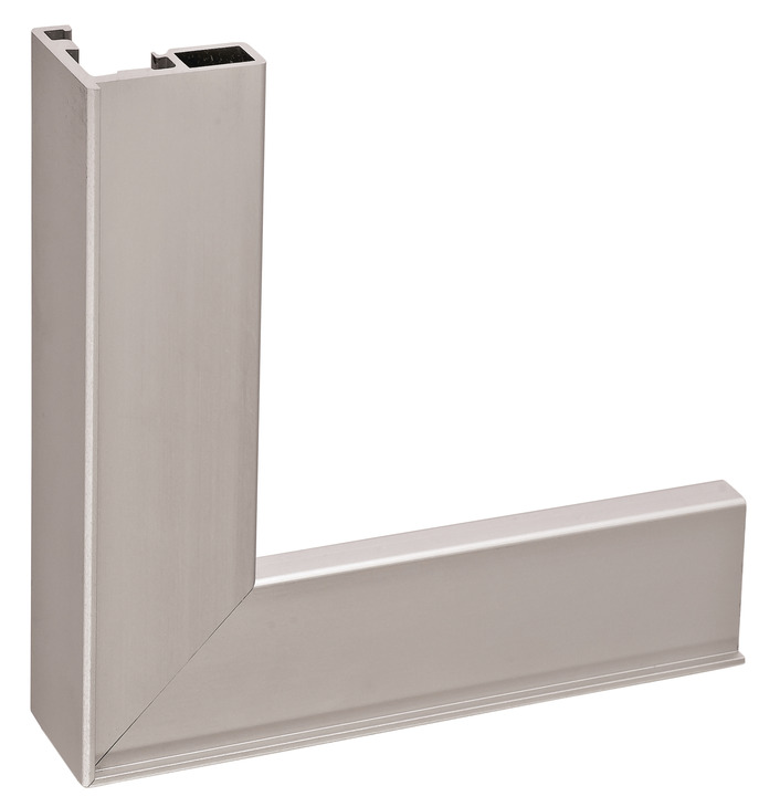 aluminum frame profile 26 x 14 mm with reduced frame glass thickness 4 mm