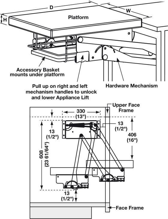 Appliance Lift Hardware Mechanism In The H 228 Fele America
