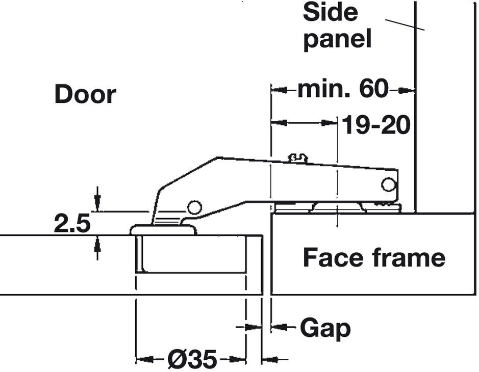 Blind Corner Clip On Hinge Opening Angle 92 176 Inset