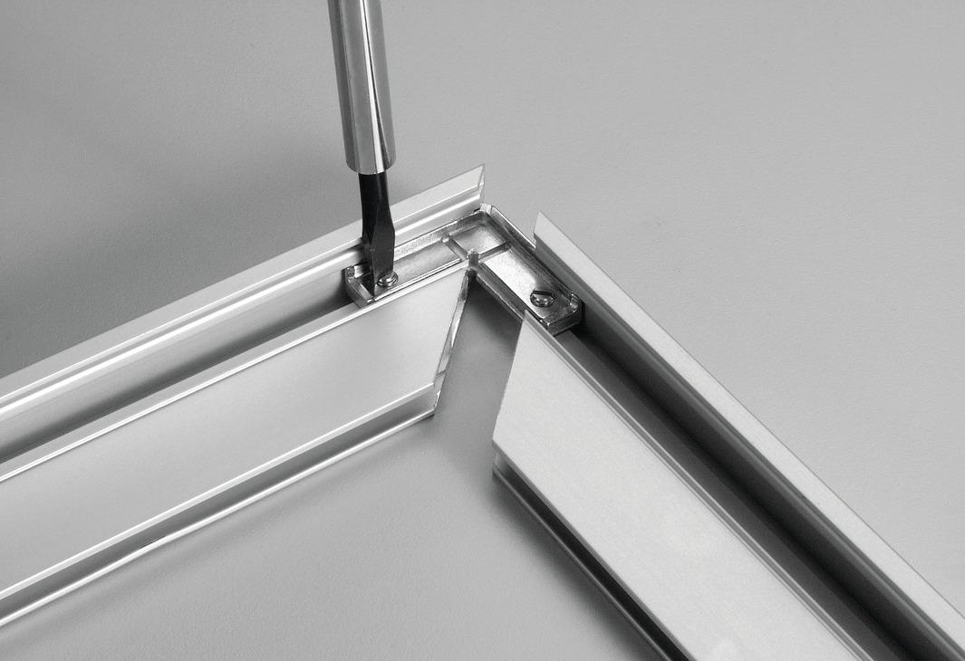 Corner Connector For Aluminum Door Frame Profiles 2