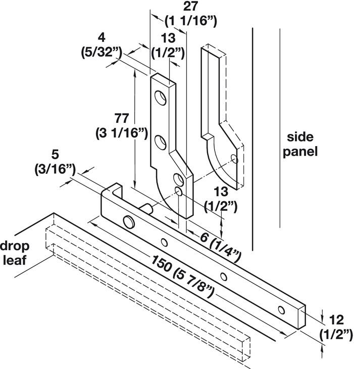 Desk Pivot Hinge 90 Opening Angle