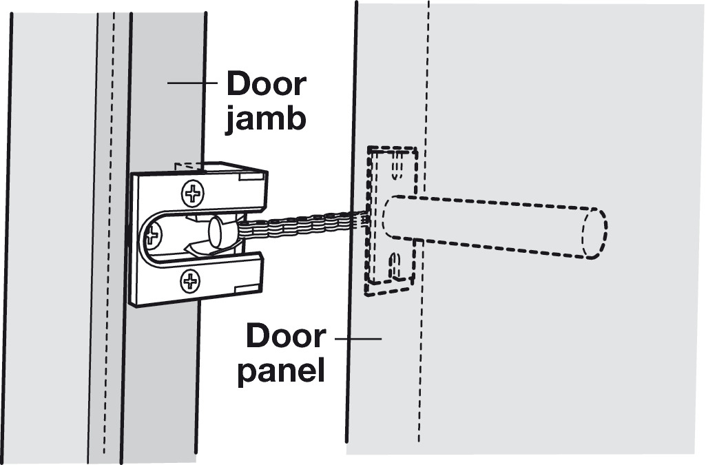 Charming Retractable Chain Door Lock Contemporary Plan