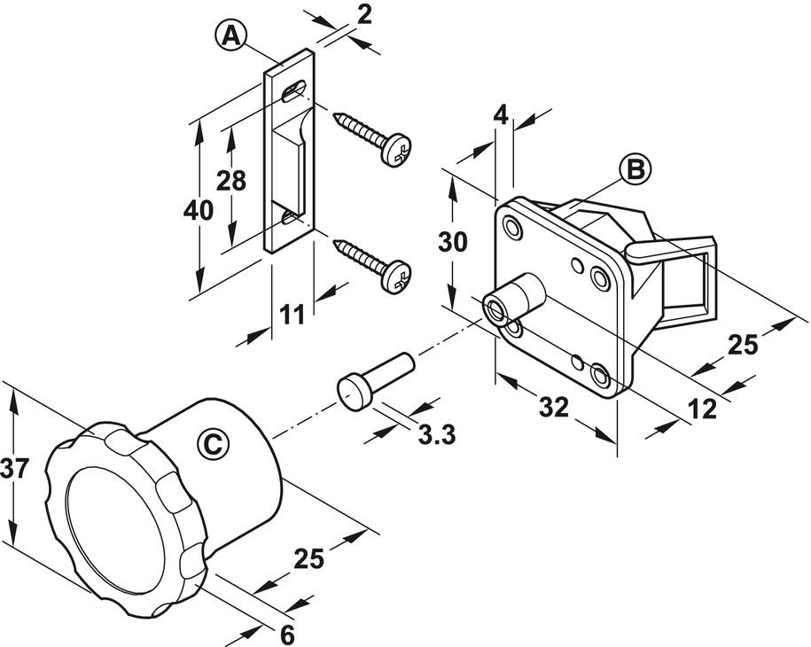 Door Lock Magnetic Safety Lock