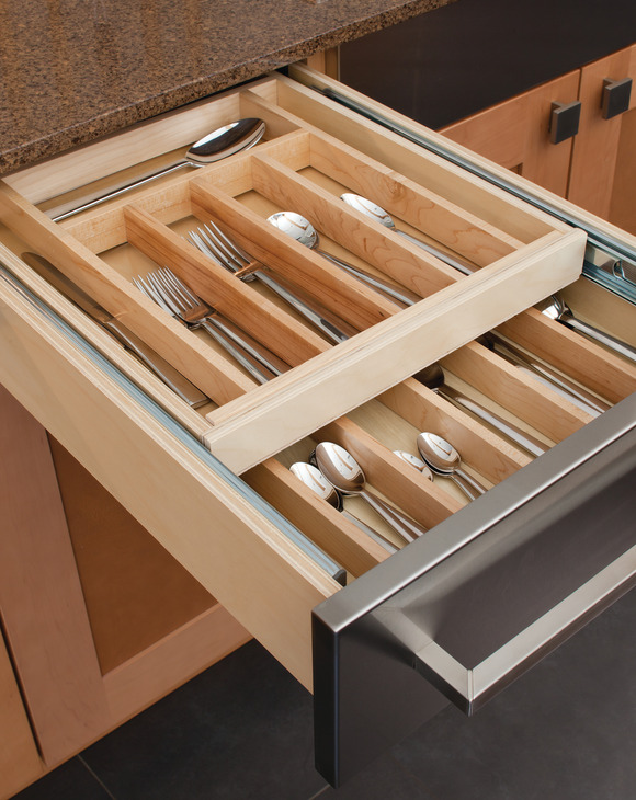 double cutlery drawer insert in the h fele america shop. Black Bedroom Furniture Sets. Home Design Ideas