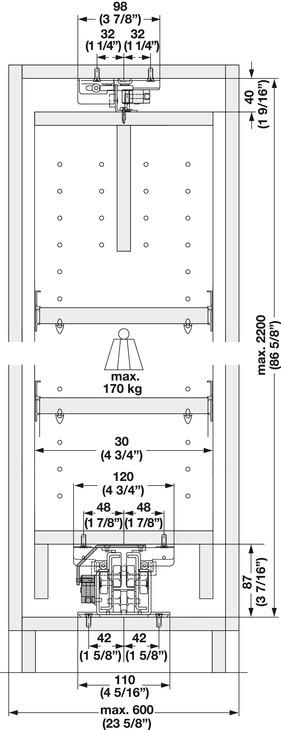 EKU Forte 170/340 Top/Bottom Mounted Cabinet Slide, Partial ...