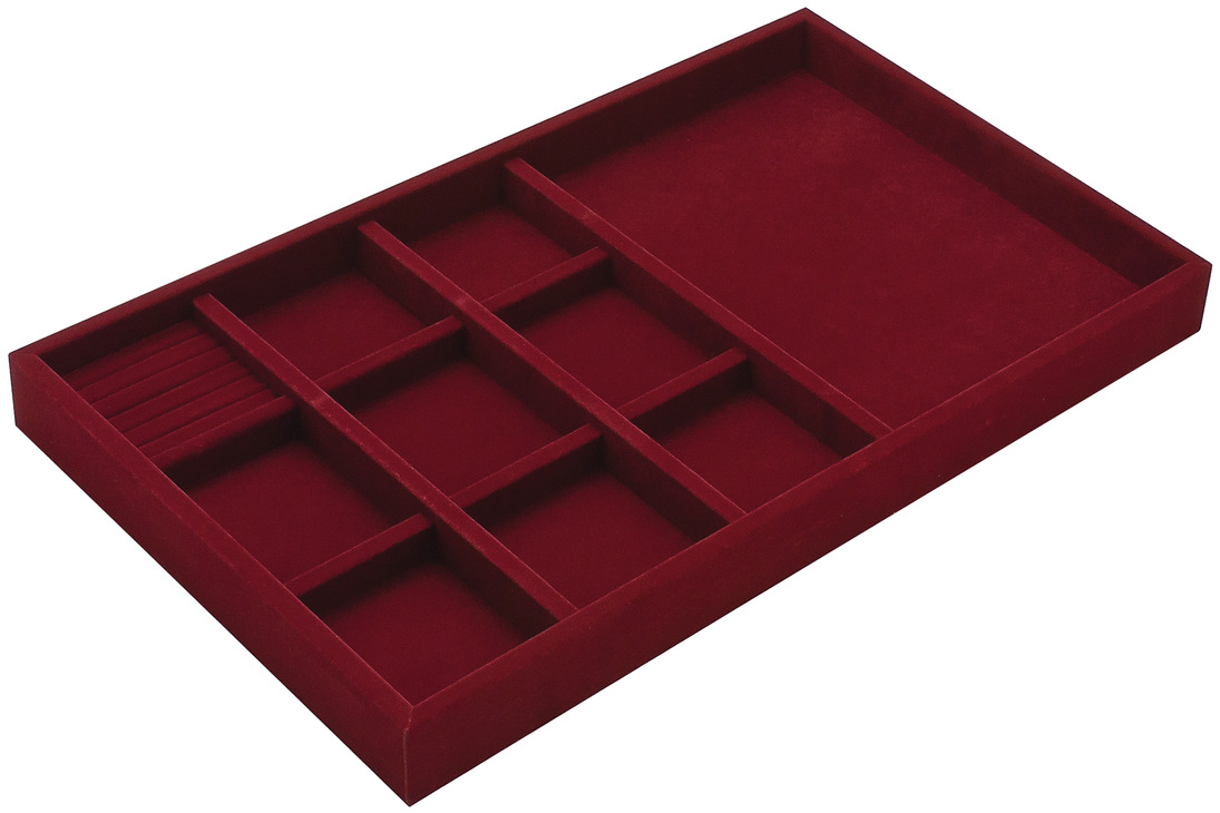 Hafele America jewelry tray 2 quot depth faux suede in the häfele america shop