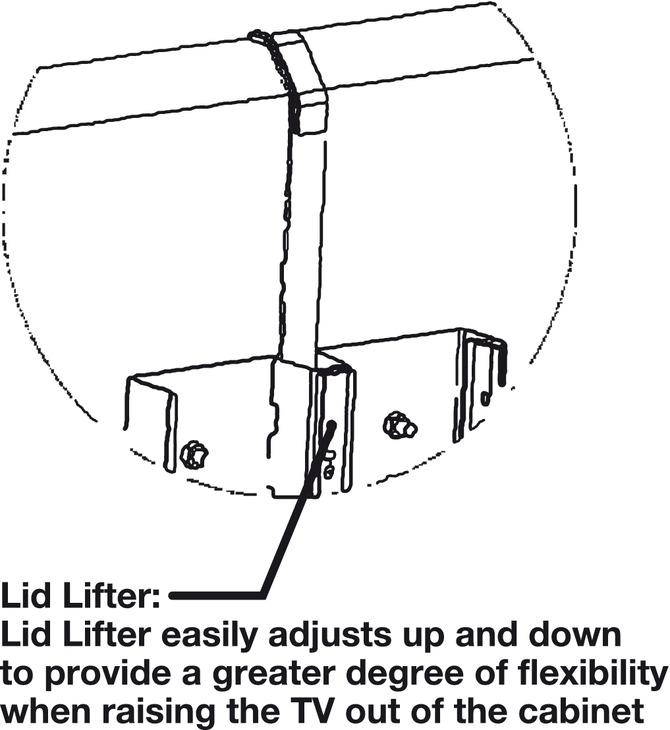 motorized tv lift  for large tv panels