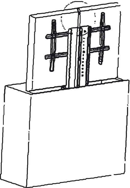 motorized tv lift  for large tv panels