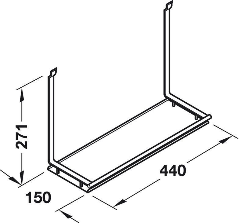 Multi Purpose Shelf Backsplash Railing System In The