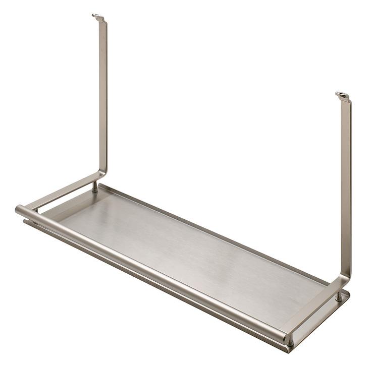 multi purpose shelf backsplash railing system in the. Black Bedroom Furniture Sets. Home Design Ideas