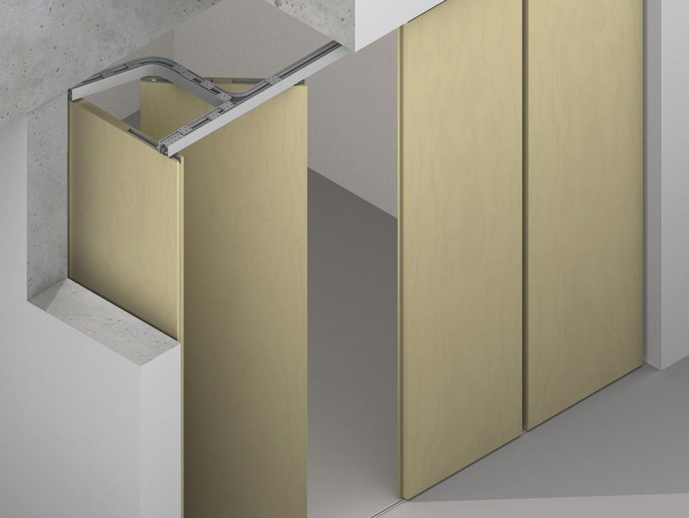 Pivot doors hawa aperto 60 h set in the h fele america for Solution porte 60 doors