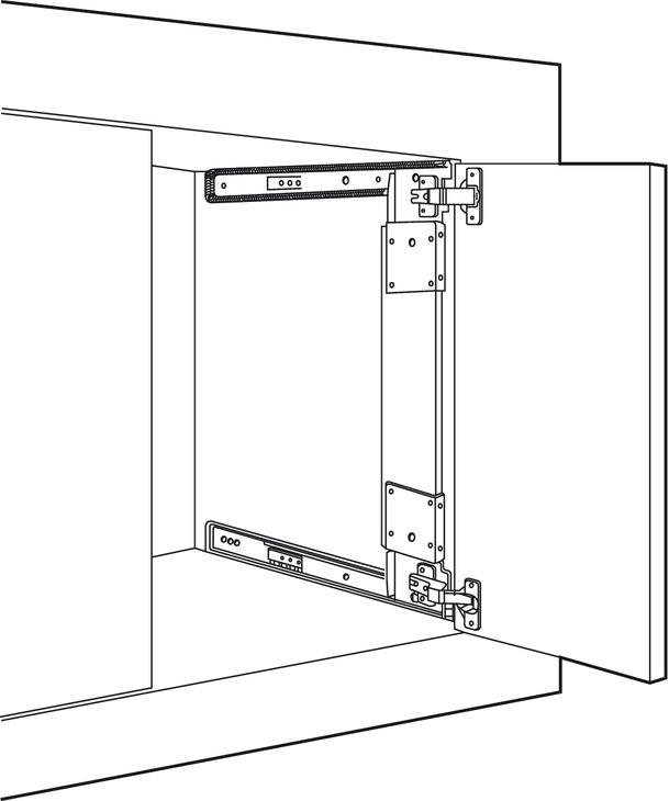 Pocket Door System Accuride 123 35 Mm Hinges Included