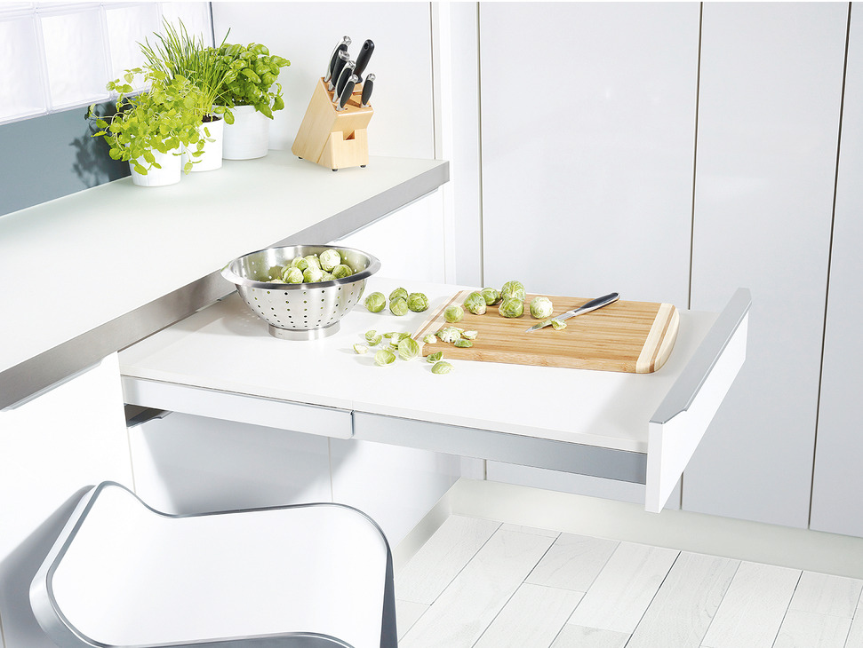 pull-out table system, top flex - in the häfele america shop