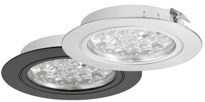 Recess Mounted Downlight, Round, Loox LED 3001, 24 V - in the ...